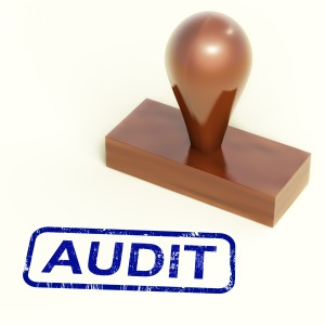 Audit Rubber Stamp Shows Financial Accounting Examination