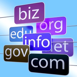 Blue Url Words Shows Org Biz Com Edu